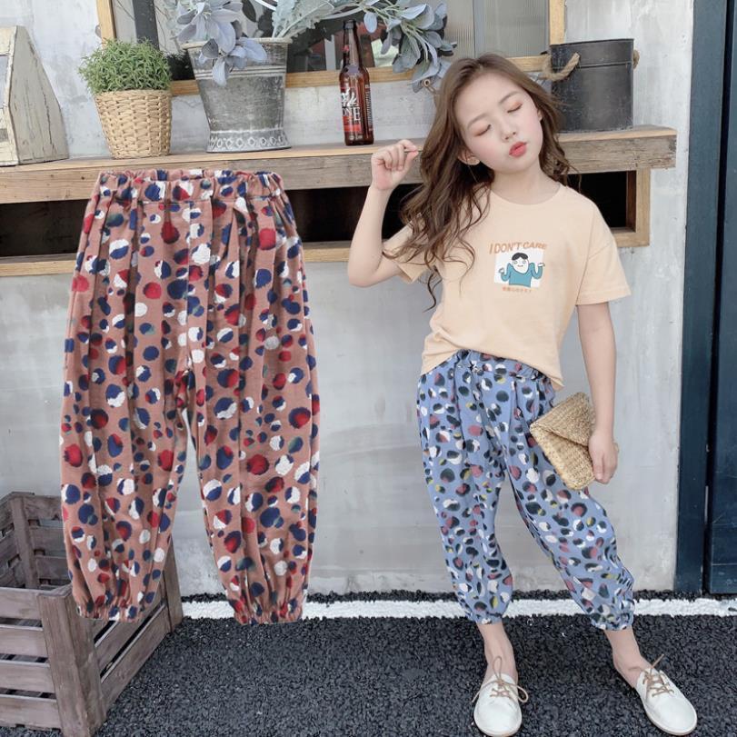Los pantalones a estrenar del verano de los bebés de Fahsion de impresión delgada pantalones de los niños hasta los tobillos para niños escolares ropa pantalones flojos 4-14y Ws619