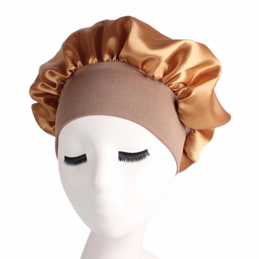 New Fashion Women/'s Waterproof Satin Shower Cap Thickening Shower Hair Dry Cap