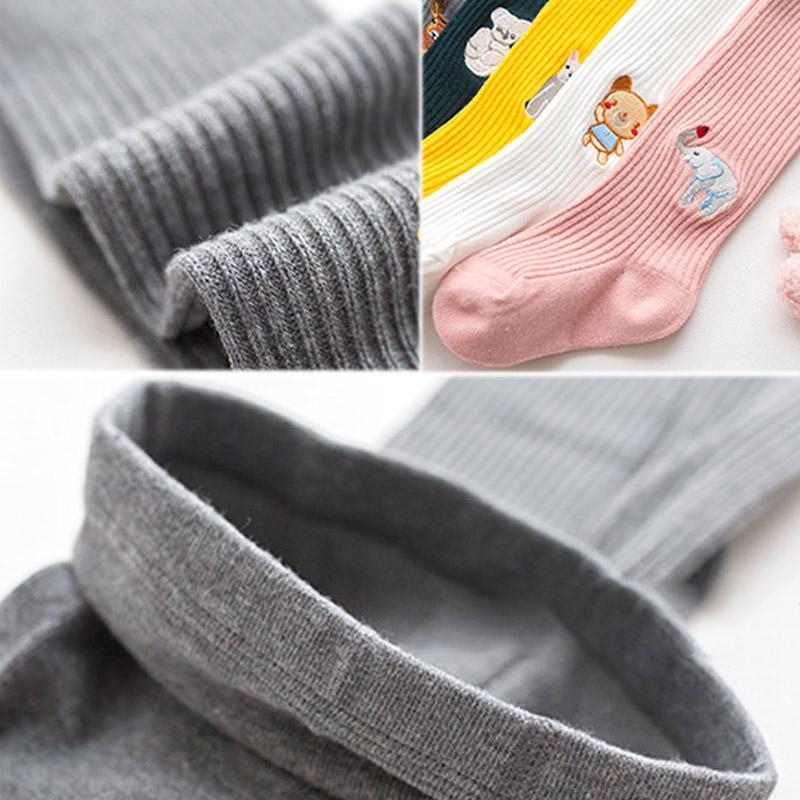 Sonbahar Kış Bebek Legging Karikatür Hayvan Külotlu çorap Örme çorap Sıcak Tayt Pamuk Toddlers Giyim