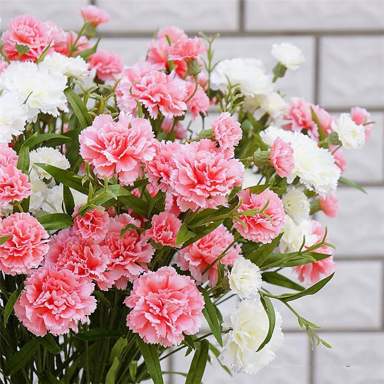 Flor artificial Ramo de la rama Día de la madre Flores Regalo Diy Scrapbooking Inicio Tabla Decoración de la boda Flores falsas Guirnalda