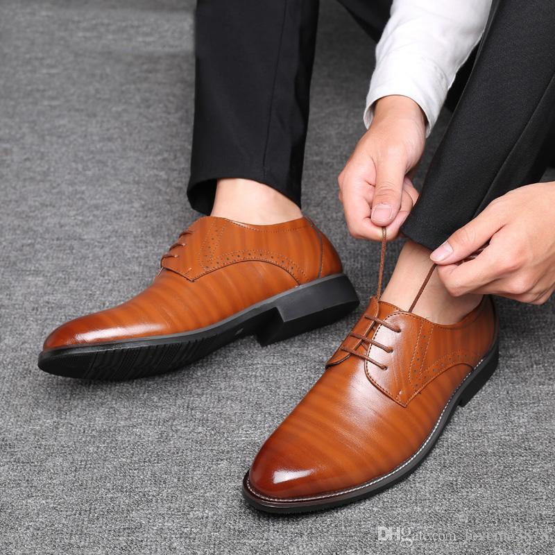4f710d097a ... Business Plus Size Uomo 38-47 Scarpe formali Scarpe eleganti Oxford  alta qualità maschile Stringate