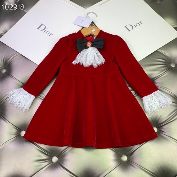 Varejo 2020 Garota de proa rendas vestidos de princesa Partido de manga comprida Crianças crianças Primavera vestido de roupas