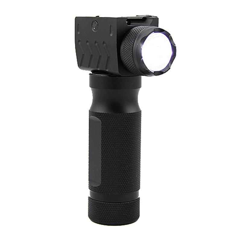 Linterna táctica Bombilla LED Pistola de caza de empuñadura delantera Luz de ajuste 20 mm Weaver Carril Picatinny