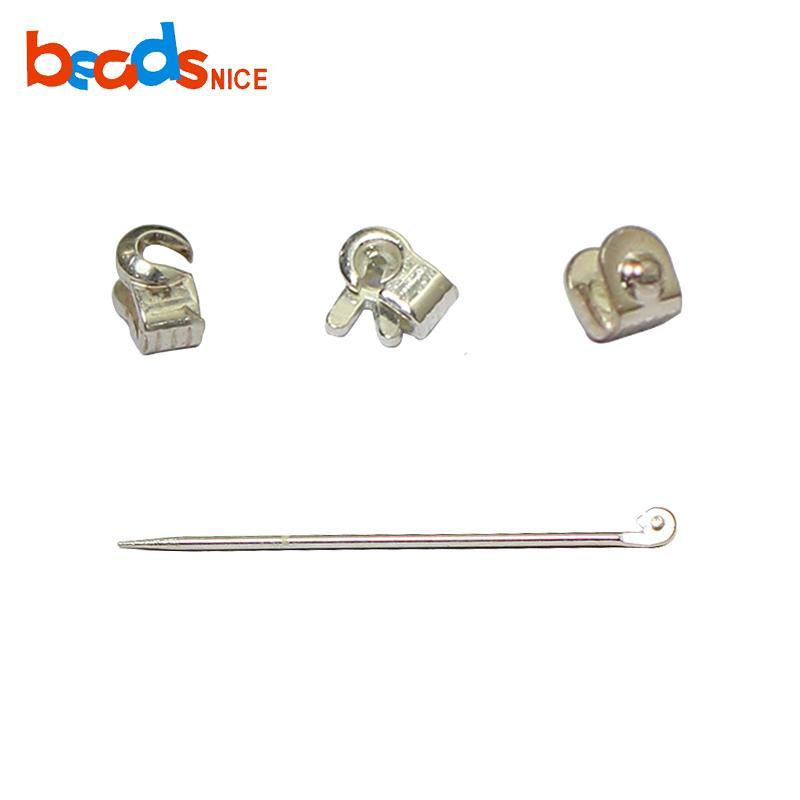 wholesale ID38533smt2 Sterling Silver Pin Components for Brooch or Pin Making Jewelry Hardware Findings