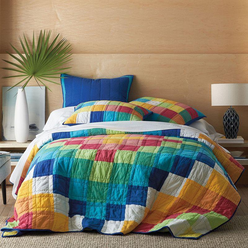 Baumwoll-Steppdecken-Bettdecke, handgefertigt von amerikanischer Bettdecke Dreiteilige Bettwäsche Außenhandel, original 3-tlg. 02