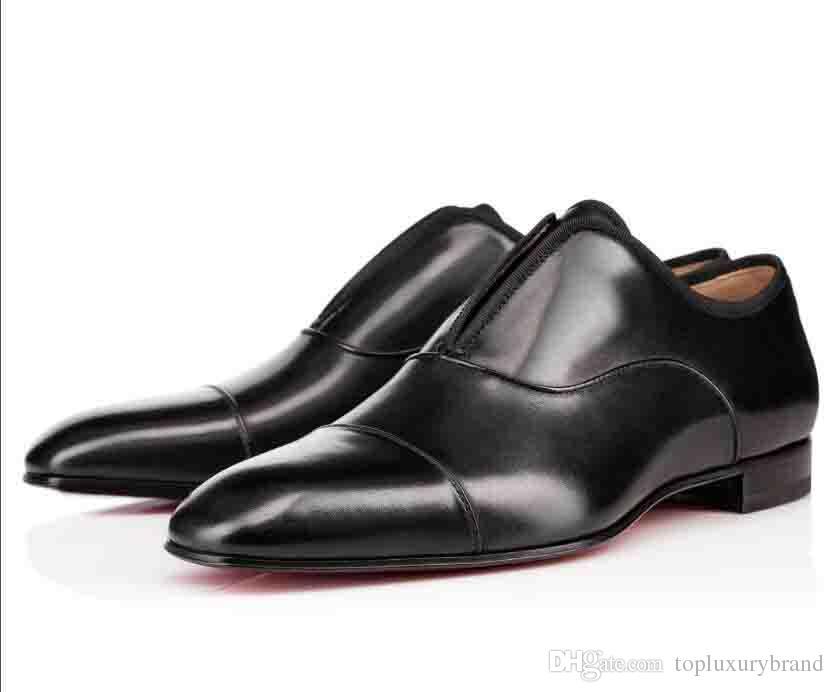 الفاخرة الانزلاق على الهندباء رياضة حذاء مسطح رجل الأعمال أحمر أسفل متعطل مصمم أوكسفورد الفاخرة في حفل زفاف أحذية حجم 35-46
