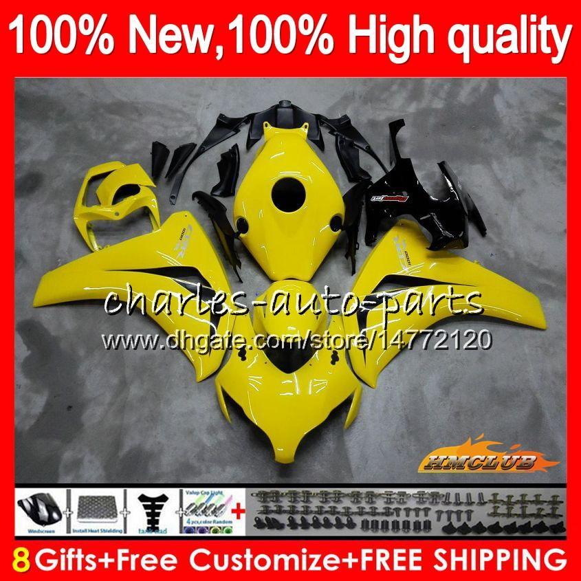 Kropp för Honda CBR 1000RR CBR 1000 1000cc RR CC 79HC.27 Glansig gul CBR1000 RR CBR1000RR 08 09 10 11 2008 2009 2010 2011 Fairings OEM Kit