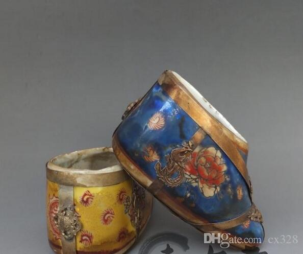 Sac Offre décoration blanche cuivre lavage stylo chaussures de porcelaine antique Papeterie spéciale de la décoration antique Copperware Divers 1pc p sijp