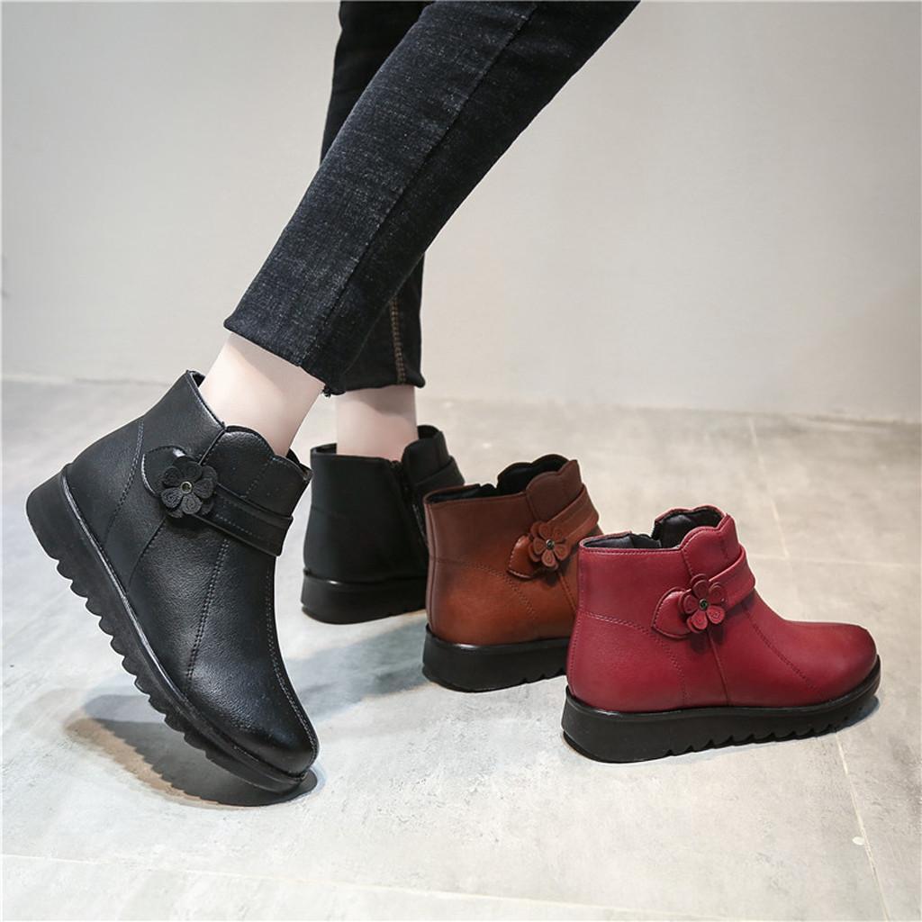 Sıcak ayakkabılar kadın Kar Boots Kış Düz Anne Bayan Ayakkabıları Günlük Pamuk Ayak bileği Boot zapatos mujer planos invierno # y2