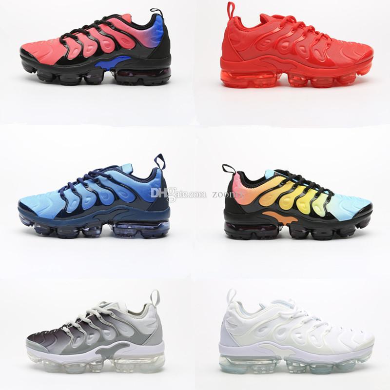 2020 горячая распродажа tn plus кроссовки женские мужские тройной черный белый красный синий розовый Rise Volt Sunburst мужские кроссовки спортивные кроссовки размер 36-46