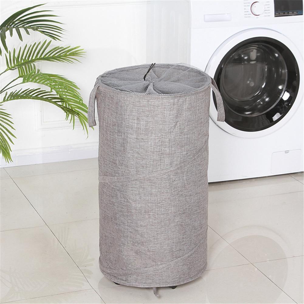 Large Laundry Basket With Wheels Oxford Cloth Storage Bucket Folding Washing Toy Dirty Clothes Big Basket Organizer Bin Handle