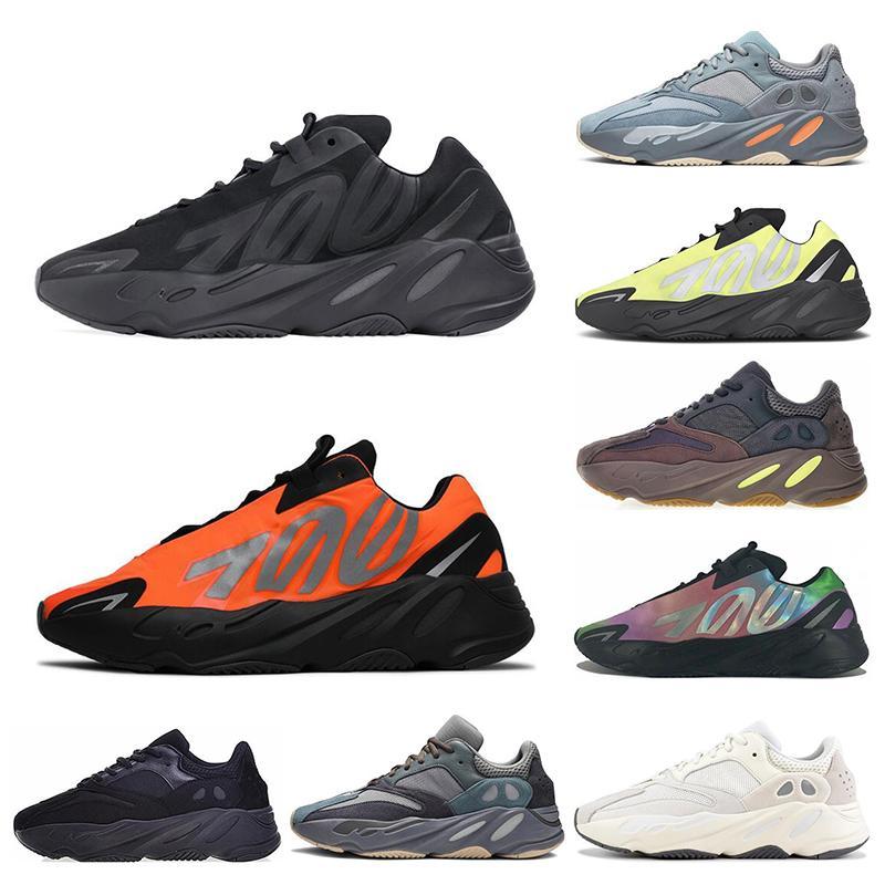 Adidas 700 Malva Wave Runner Hombres Mujeres Inercia estática Atlético Zapatillas deportivas de alta calidad para correr Zapatillas de diseñador talla 36-45