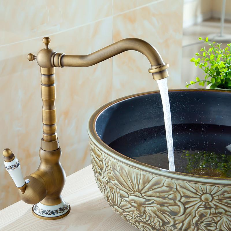 2019 Bathroom Antique Tap Basin Faucet Vintage Kitchen Sink Tap Brass  Torneira Banheiro Basin Mixer Water Bronze Faucet From Homesets, $64.02 |  ...