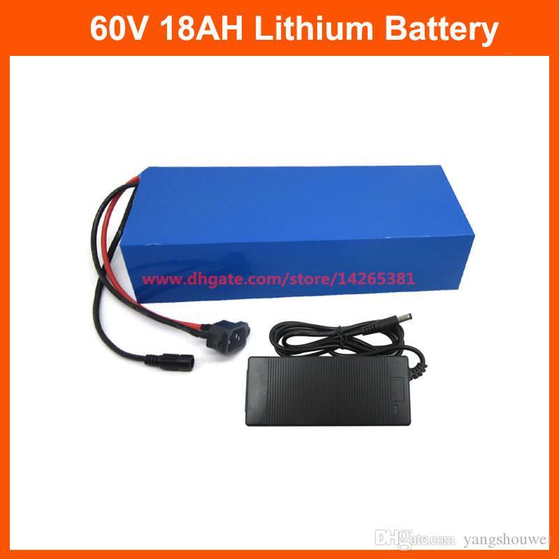 1500W 60 V 18AH Lityum Pil 60 V 17.5Ah Pil Paketi Kullanımı INR18650-35E 3500mAh Hücreli 30A BMS 2A Şarj Cihazı Ücretsiz Gümrük Vergisi