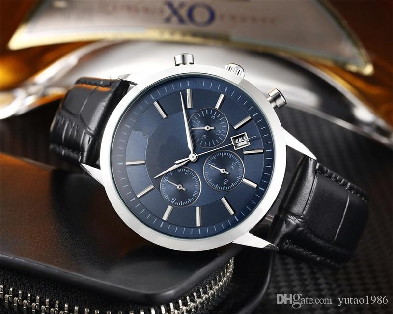 2021 Прибытие Хронографа Роскошные Мужские Часы Шесть игл Все циферблаты AR Марка Классические моды Мужские наручные часы R кварцевые часы Часы подарки