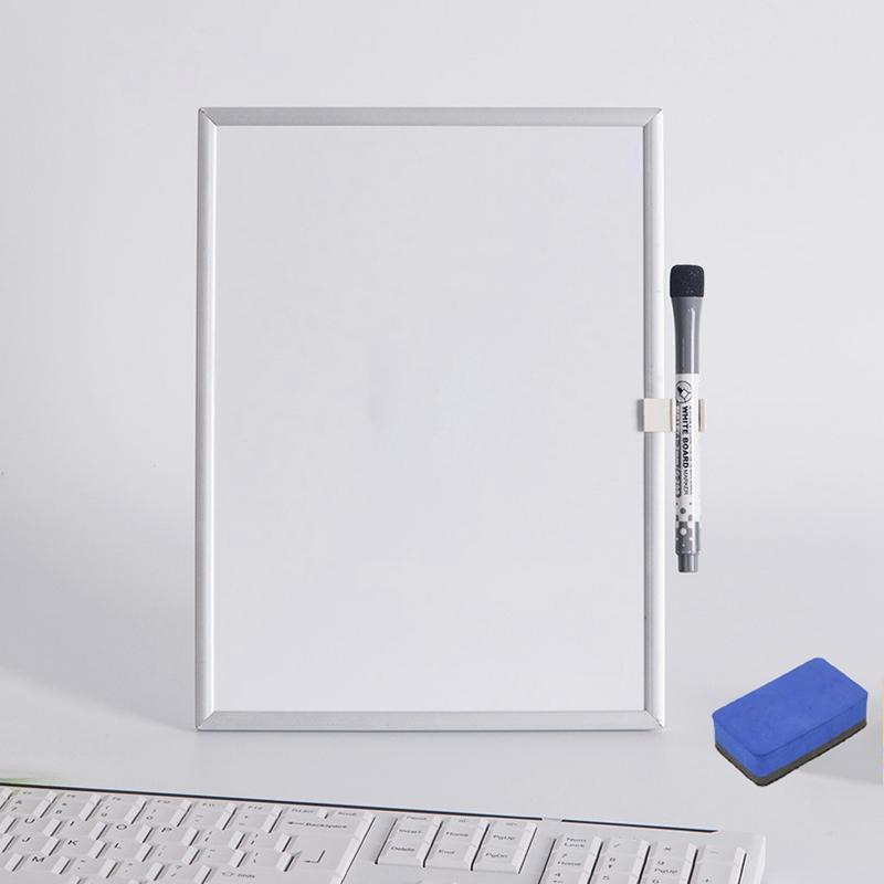 Nouveaux Tableaux blancs magnétiques Tableaux blancs effaçables à sec Tableau blanc pour mur Réfrigérateur Lunettes Intérieur Cadre aluminium
