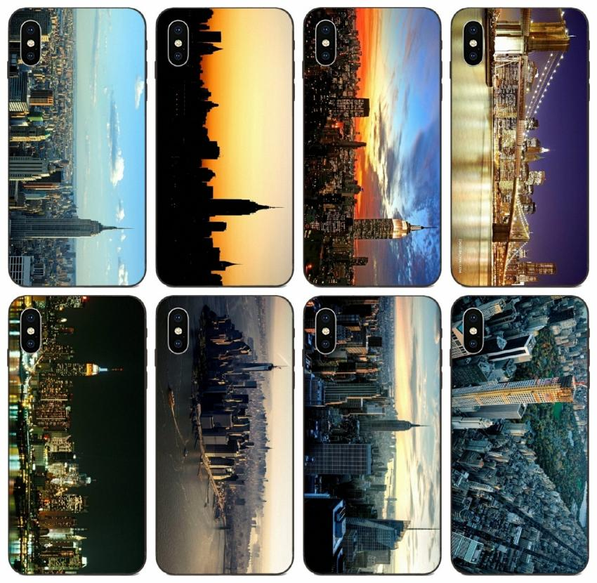 TongTrade New York City Skyline Case For IPhone 12 11 Pro X XS Max ...