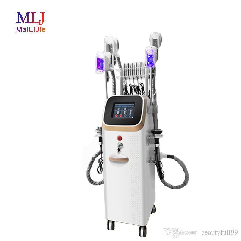 Hot vente produit 4 cryolipolysis poignée cavitation 40K RF LipoLaser pads machine de mise en forme du corps de perte de poids