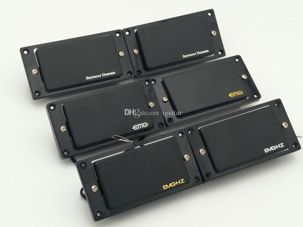 Черный пассивный датчик, Seymour Duncan пассивного датчик, ют Гц Хамбакер электрической Приемистости (1 комплект черных шей / мост)
