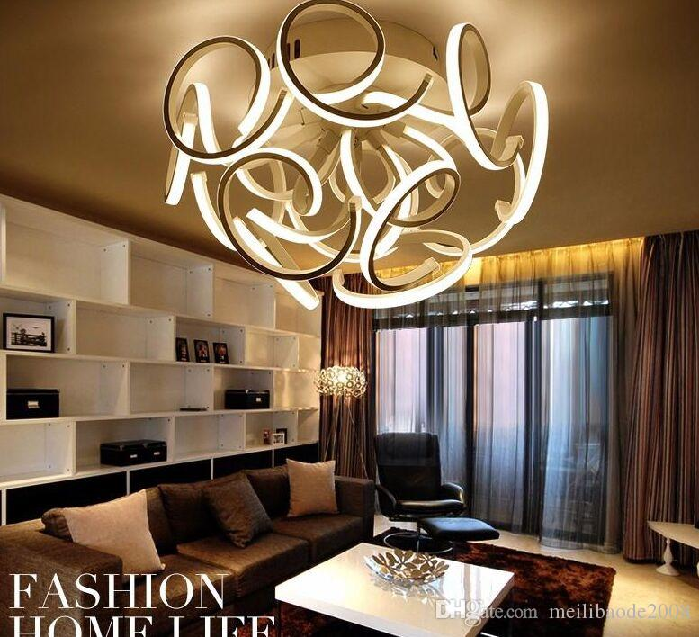 Creative modern minimalist led Ceiling Lighting vanity lights For Living Room Bedroom Aluminum+Acrylic Home Dec Modern Led Ceiling Lamp MYY