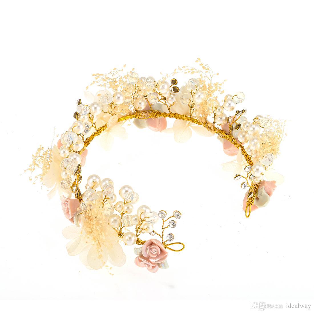 شعبية جميلة النمط الريفي الكلاسيكي سلسلة طويلة شرابة اللؤلؤ الزفاف غطاء الرأس أقراط بوتيك مجموعة مجوهرات هدية