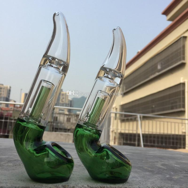 2019 Neue 6,0 zoll Glas Sherlock Pocket Bubbler Mini Sherlock handpfeife pfeife Glas Stumpf Für Trockene Kräuter Auf Lager