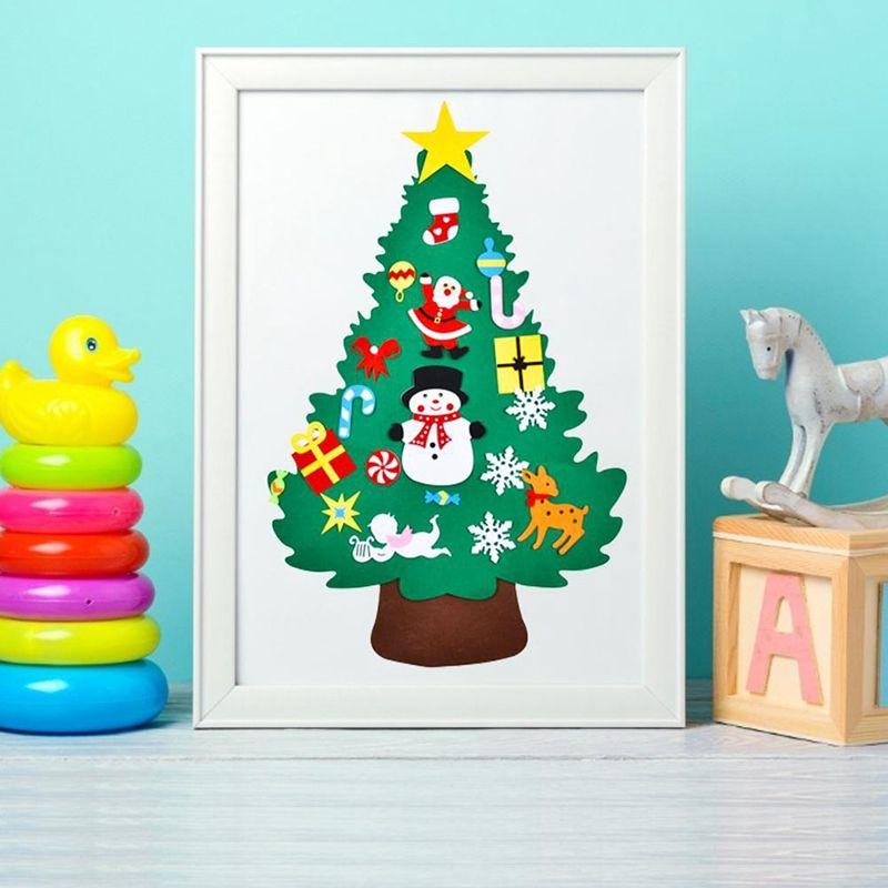 Ev Noel Dekorasyon Dekorasyon Çıkartma Noel Süsler Çocuk Hediye Asma DIY Keçe Noel Ağacı Kolye Duvar