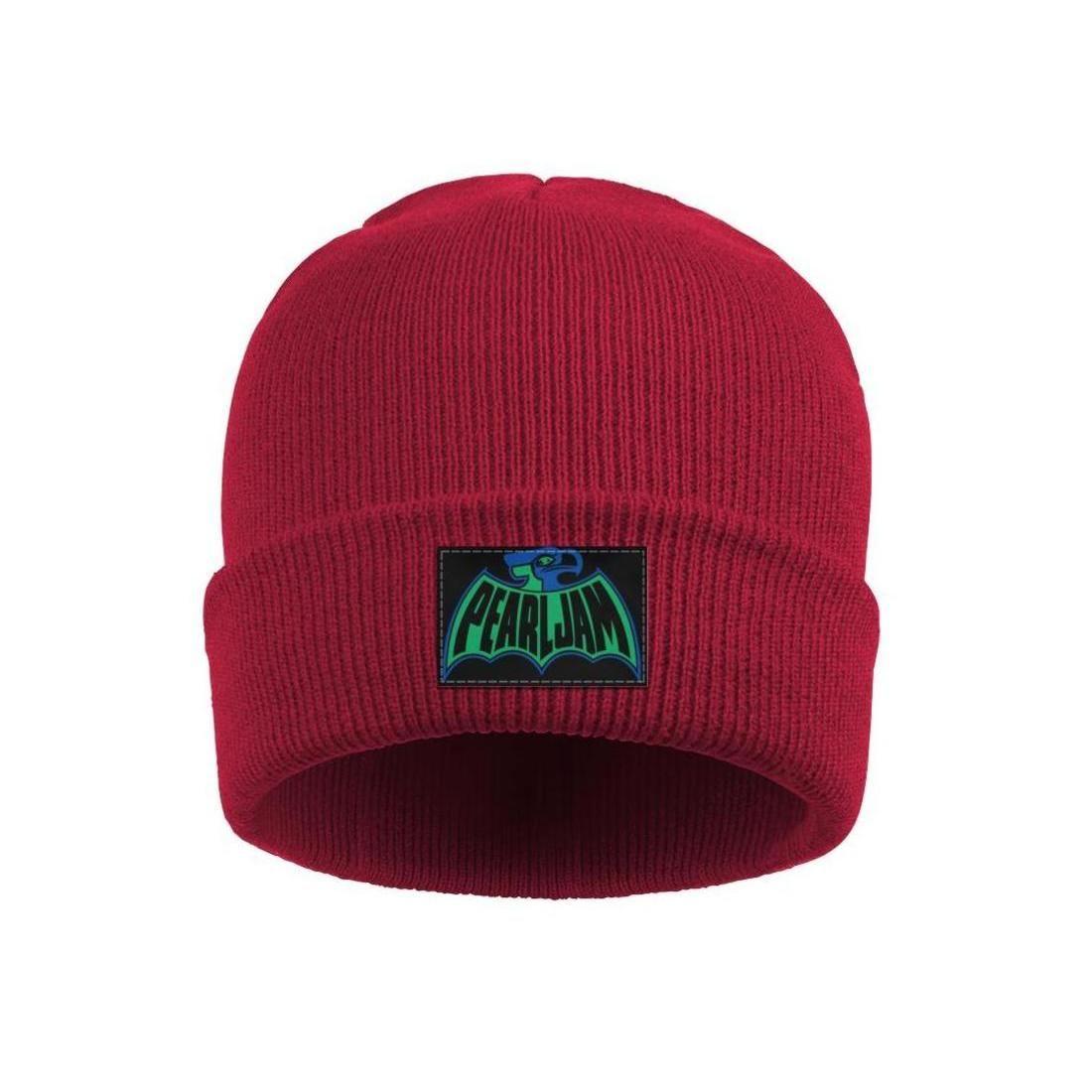 Moda Pearl Jam aquila logo Inverno Comprensori Guarda Beanie tesa del cappello Cappelli Volantini arte Red PEARL JAM Rivoluzione americana Musica Skull Logo Stella