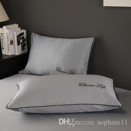 Dos laterales 100% seda de mora de almohada sobre de seda pura funda de almohada almohada para Healthy Sleep multicolor 48x74cm