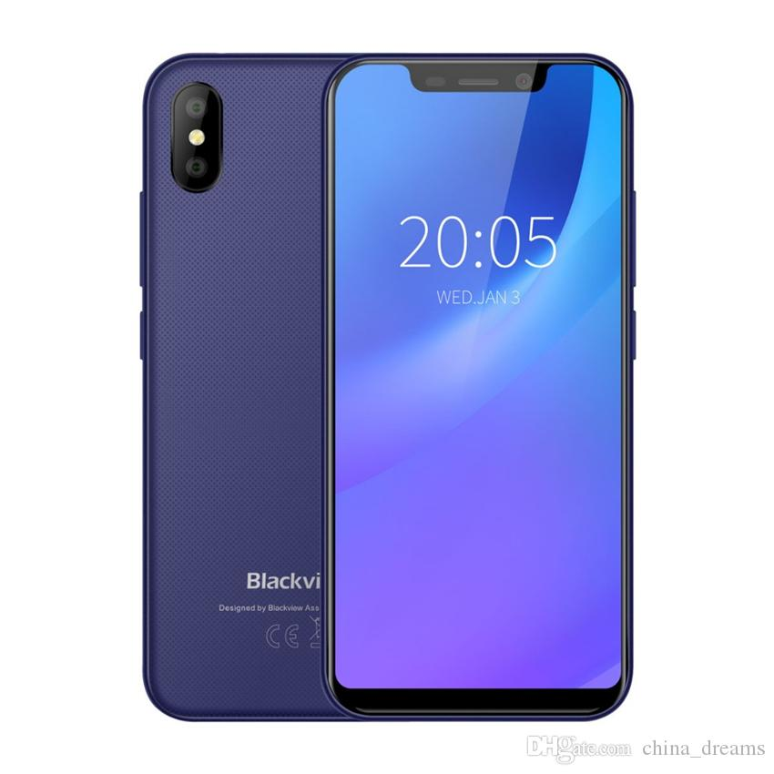 Blackview A30 Smartphone 5.5inch 19:9 Full Screen MTK6580A Quad Core 2GB+16GB Android 8.1 Dual SIM 3G Face ID Mobile Phone