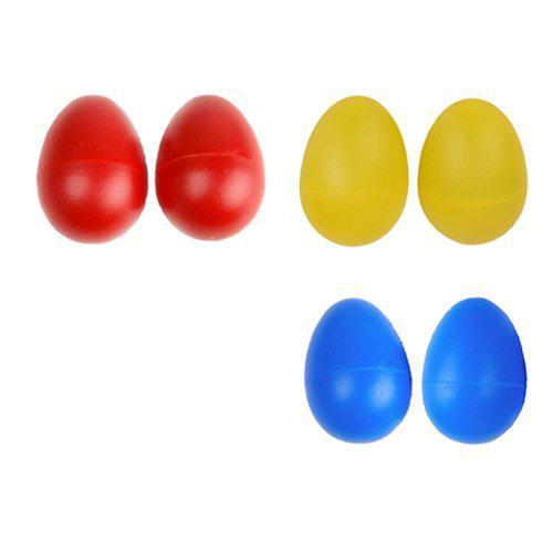 2 Plastic Egg Maraca Rattles Shaker Percussion Kid Musical Toy Yellow