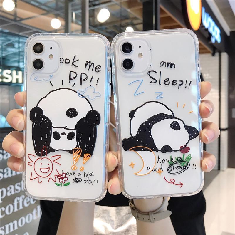 Funny Cartoon Panda Phone Case For IPhone 6 6s Plus 7 8 Plus Case ...