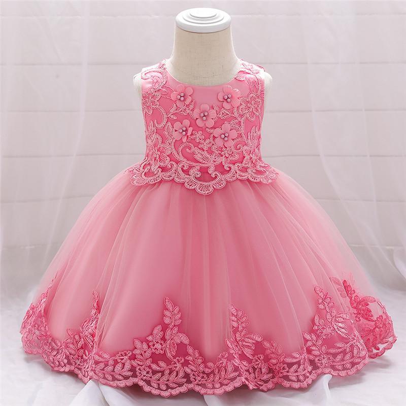 AbaoDo neue Ankunft 3mos-2yrs Taufkleid Modenschau Mädchen Partei Abendkleider Prinzessin Sozial Kleid Mädchen Ballkleid Tutu L5097