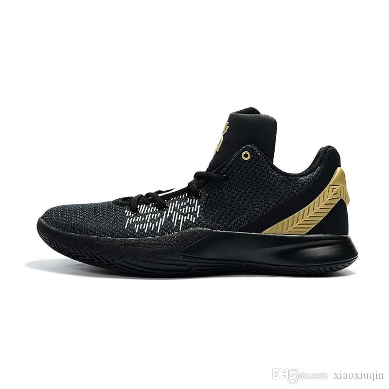 Men kyrie flytrap 2 basketball shoe Black Gold Wolf Grey Pure White Red youth kids kyries irving low cut sneakers tennis with box size 7 12
