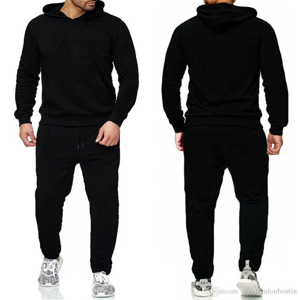 Marca Juego Conjuntos Hombres Chándalsuits Casuales Sudaderas Pantalones Para Hombre Sportswear Pant Hoody Sudadera Sudadera Masculina Trajes para correr Sweetpant 2 PCS