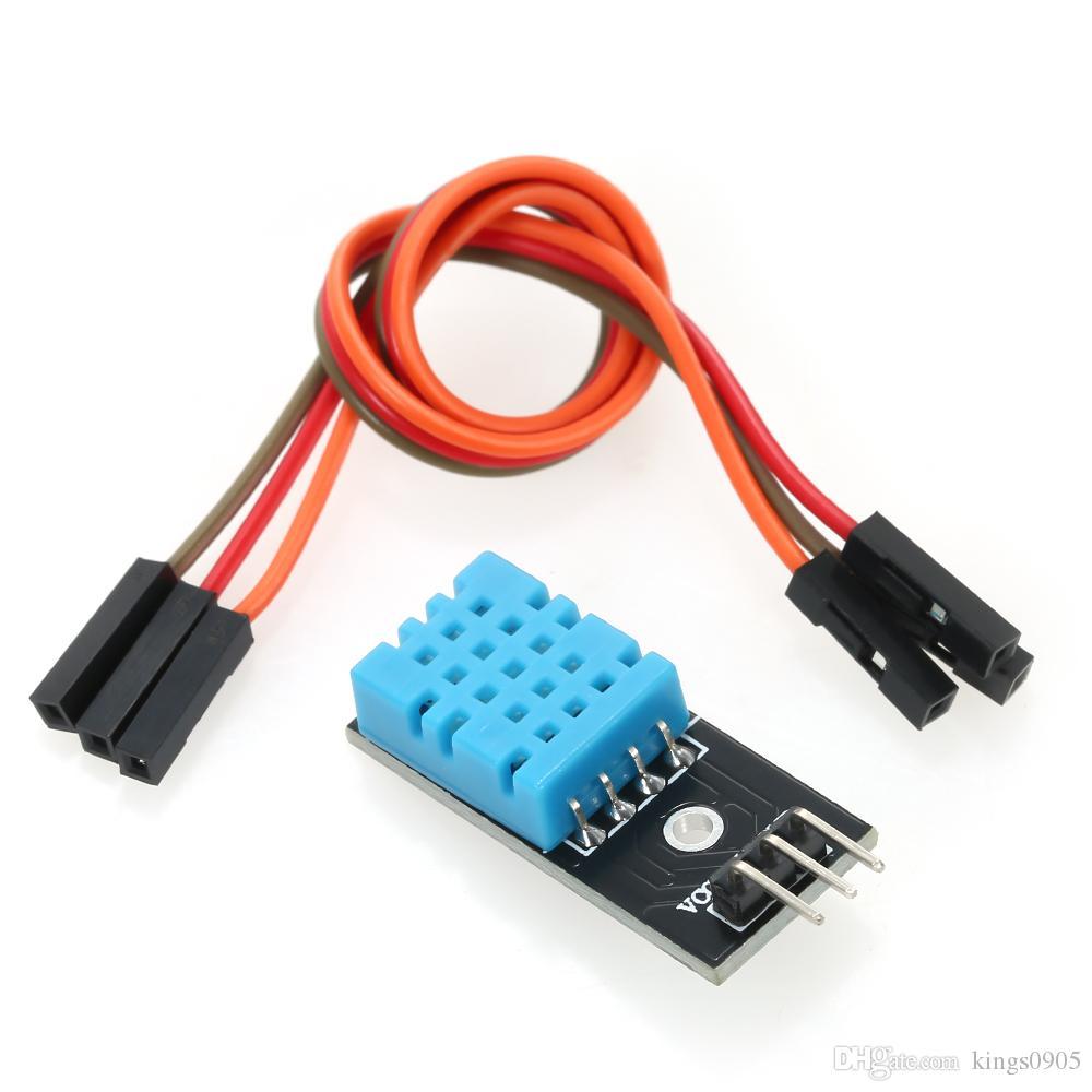 DHT11 Módulo de sensor de temperatura y humedad de alta confiabilidad Módulo DHT11 con línea Dupont para kit de bricolaje Arduino