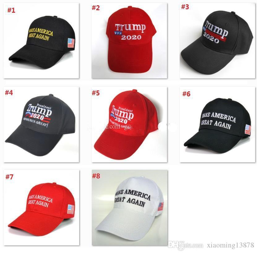 2020 vendite calde Donald Trump 2020 Berretto da baseball rendere l'America Great Again Cappello ricamo mantenere l'America Grande cappello tappi repubblicano Presidente Trump