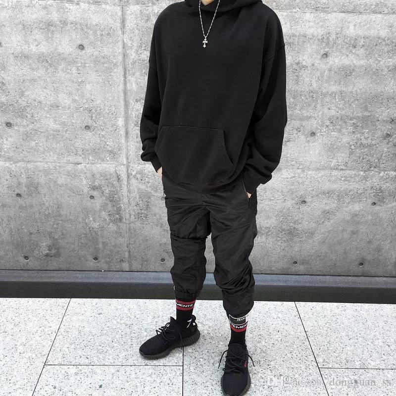 Top Quality black Women Men Hoodies Sweatshirts Hiphop Hoodies Pullover