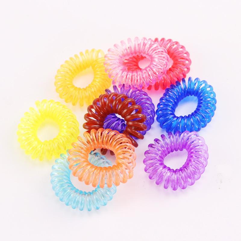 10pcs / lot Yeni 2cm Küçük Telefon Hattı Saç Halatlar Kızlar Renkli Elastik Saç Bantları Kid at kuyruğu Tutucu Tie Sakız Aksesuarları