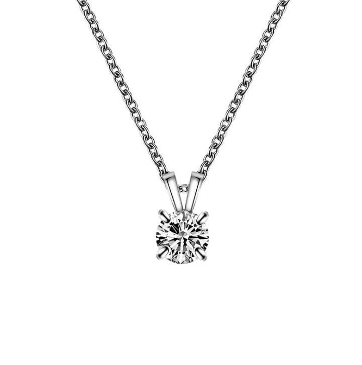 De calidad superior Cubic Zirconia Collares pendientes Diseño Simple Niñas Collar de Cristal Mujeres Joyería Nupcial de La Boda Accesorio