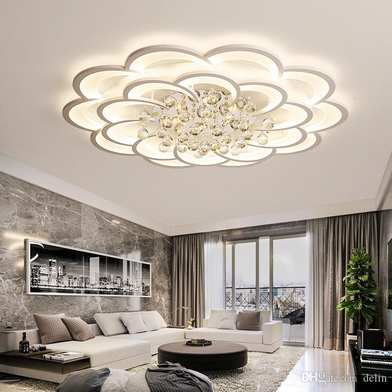 Crystal Modern LED Lampadario per soggiorno Camera da letto Studio Room Home Deco Acrilico 110 V 220 V Lampadario per lampadario del soffitto Free DHL