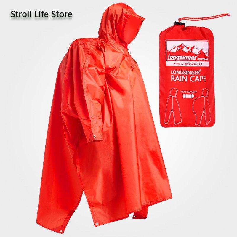 Outdoor Rain Poncho Hiking Raincoat Walking with Sleeves Floor Cloth Rain Coat Thicken Riding Mountaineering Gear Gift