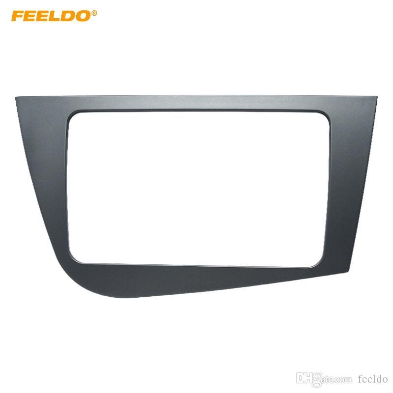 FEELDO Car 2Din Stereo Radio Fascia Frame Adapter for Seat Leon 2005-2011(RHD)Audio Dash Plate Panel Mount Trim Kit #4098