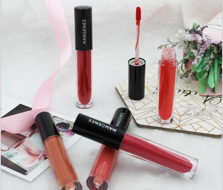 새로운 메이크업 도매 미스트 입술 광택 매트 립스틱 이모 호박 체리 컬러 메이크업을 퇴색하지 않는다
