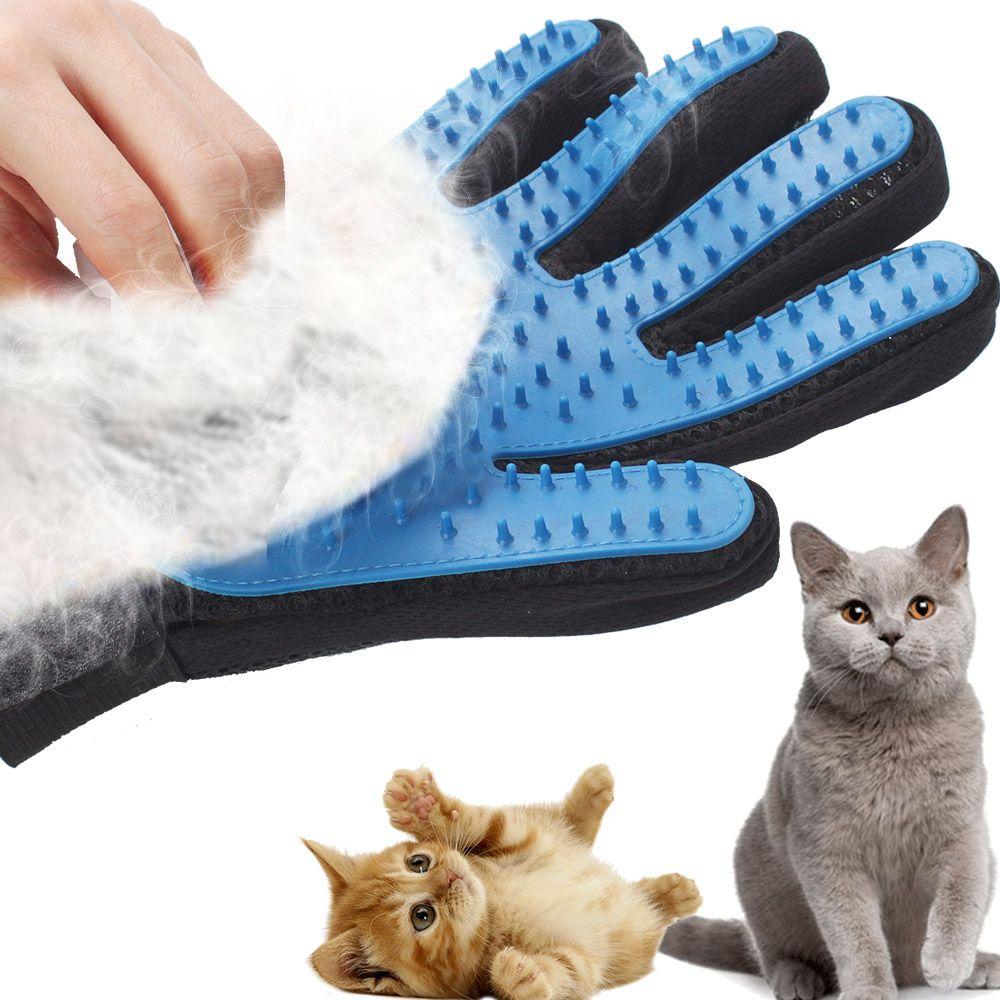 Silicone Toilettage pour animaux gants pour chats cheveux Brosse de nettoyage peigne DeShedding Animaux Produits pour animaux enlèvement chat brosse à cheveux Massage