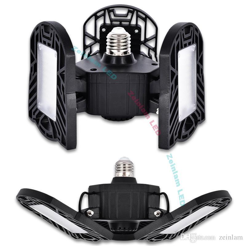 모션 활성화 천장 조명 6000LM-Led 변형 가능한 차고 라이트, 고 강도 마이닝 램프, LED 천장 조명, LED 전구