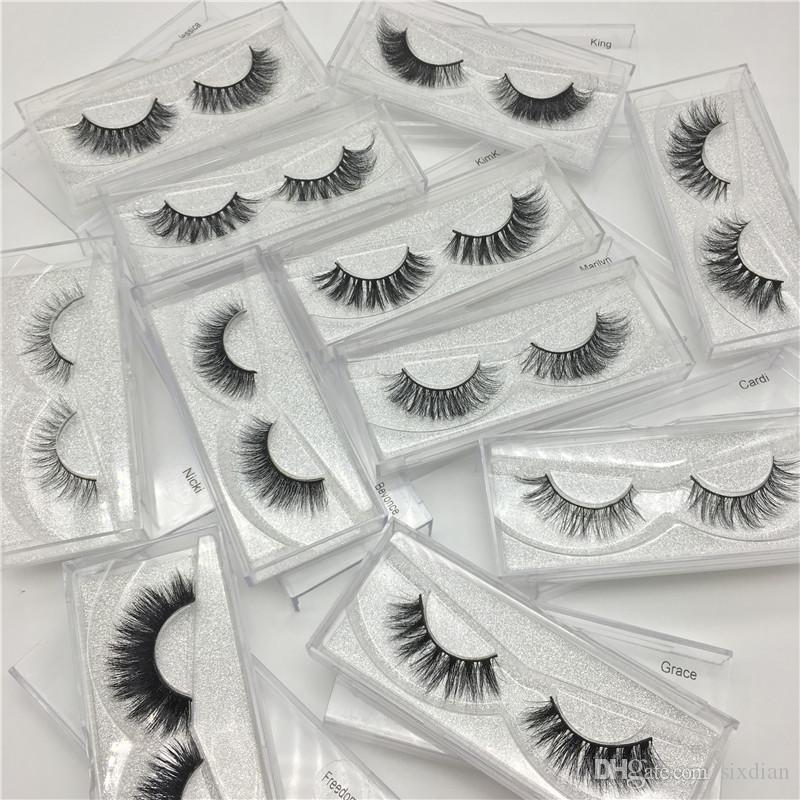 NEW Wiederverwendbare 3D Mink Wimpern Hot-falsche Wimpern Natürliche Curly Mink Lashes Wimpernverlängerung Makeup Eye Lashes