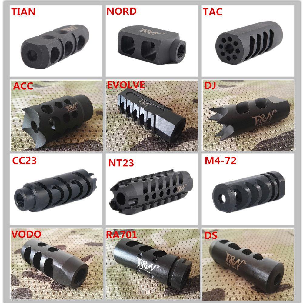 """12 tipi fn concorrenza tattica FN BUGGLE FRENO SOFFATORE MORIFICATORE 1/2 """"X28 Pitch Version Compact Lavatrice inclusa per .223 / 5.5"""