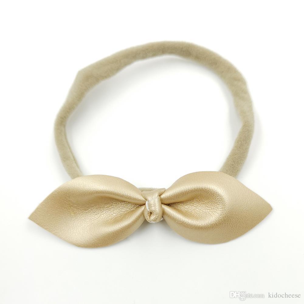 Gold Satin Hairband Headband Alice Band Ivory Satin Bow Bridesmaid Flower Girl