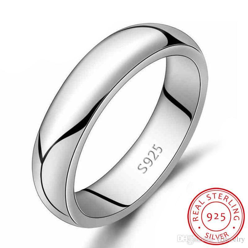 Классические Pure Silver Обручальные кольца для женщин и мужчин моды платье аксессуары стерлингового серебра 925 оптового RSY925